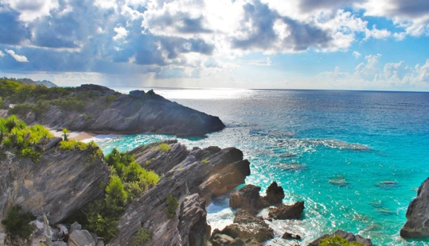 Exploring the private beaches just off the edge of Bermuda's popular Horseshoe Bay.