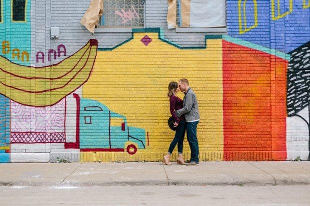 Graffiti Mural Engagement Photos Downtown Detroit