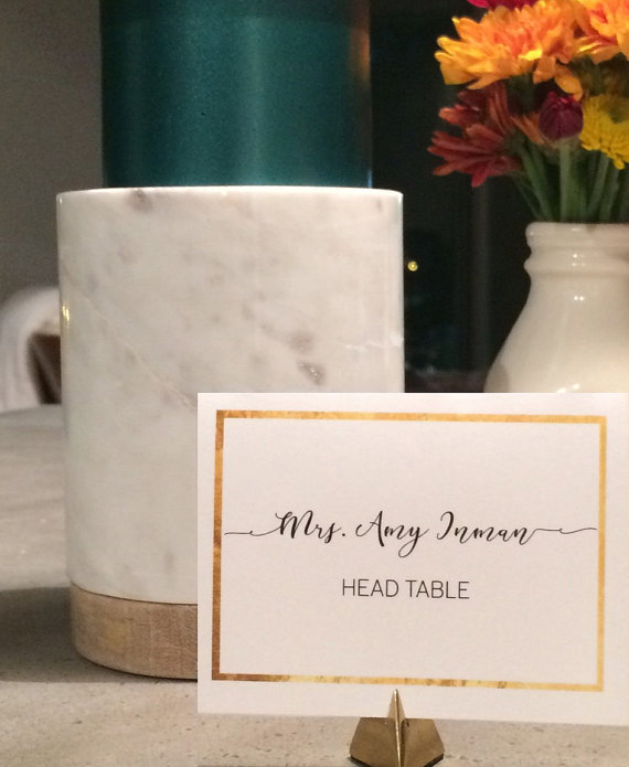 Gold Placecards
