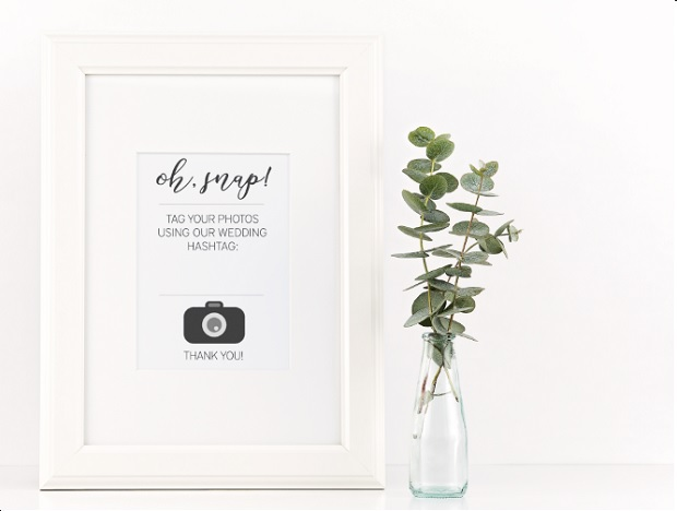 Mock Up Wedding Hashtag