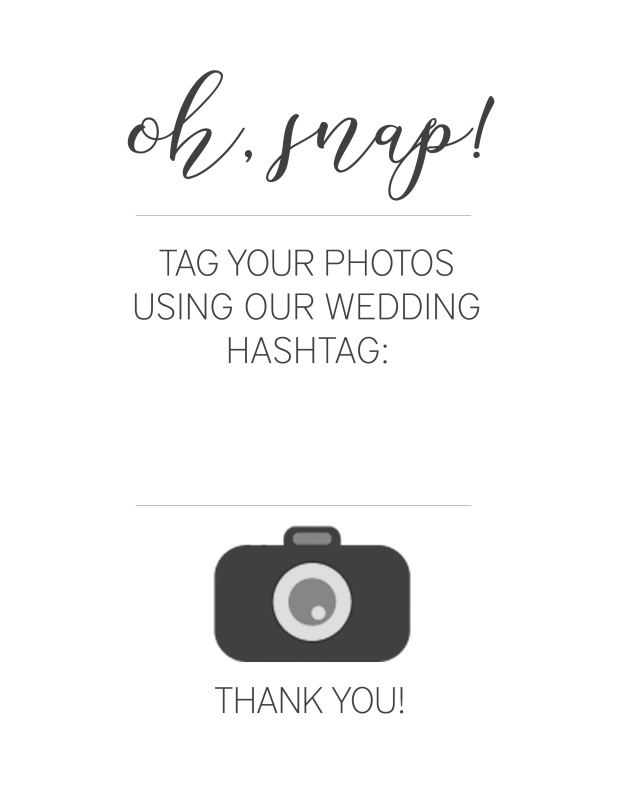 Free Download: Wedding Hashtag Sign