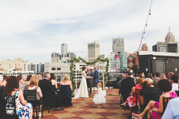 A Detroit Opera House Rooftop Wedding